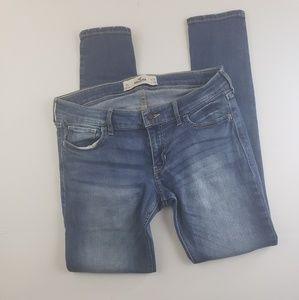 Hollister womens blue Jean denim skinny pants 9s